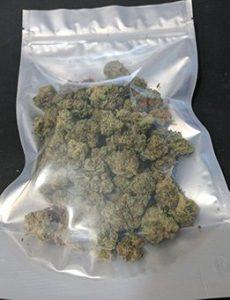 """6.0"""" X 9.4"""" X 3.25"""" bag with 28 grams of marijuana"""